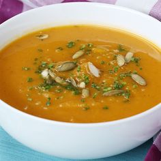 Get In The Mood For Fall With This Slow Cooker Butternut Squash Soup (Toast the veggies first) Slow Cooker Recipes, Crockpot Recipes, Soup Recipes, Cooking Recipes, Recipies, Pasta Recipes, Low Carb Vegetarian Recipes, Vegan Recipes, Paleo