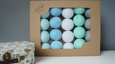 Cotton Ball Lights 20 balls cholours to choose by MamaPotrafi on Etsy