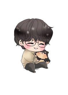 Bts Chibi, Anime Chibi, Taehyung Fanart, Vkook Fanart, Kpop Drawings, Bts Backgrounds, Dibujos Cute, Cute Cartoon Wallpapers, Bts Pictures