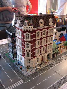Victorian Lego building.  Smart Car Store.
