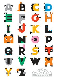 Typography by Craig & Karl #AlphabetZoo #Letters #Typography #Art #Design #Illustraion #Animals #CraigandKarl