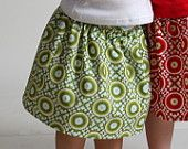green holiday circles skirt - girls baby toddler christmas - handmade boutique kids clothing by noah and lilah christmasinjuly