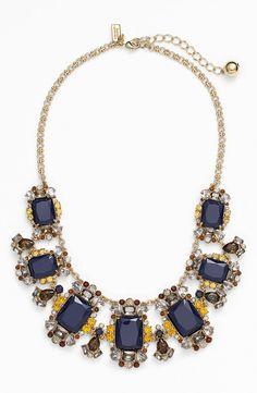 Pretty ornate statement necklace in regal blue | Kate Spade