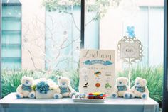 Gift Table from a Winter ONEderland Birthday Party via Kara's Party Ideas KarasPartyIdeas.com (7)
