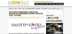 I Salotti del Gusto su La Cucina di QB: http://www.lacucinadiqb.com/2013/01/chef-contest-internazionale-e-carta-dei.html
