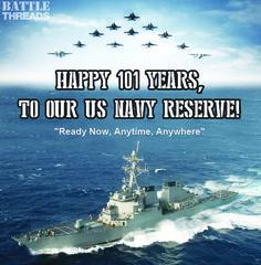 3/3/16 - Happy 101 years, Navy Reserve!!
