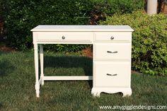 Amy Giggles Designs yard sale desk makeover