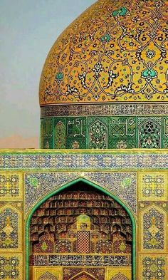 Amazing detail at Sheikh Lotfollah Mosque, Isfahan, Iran Persian Architecture, Religious Architecture, Beautiful Architecture, Beautiful Buildings, Art And Architecture, Architecture Details, Beautiful Mosques, Beautiful Places, Iran Travel