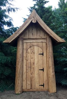 The outhouse my husband built :)) More pictures of the outhouse, inside and out, on my blog. It shows details of the completed project and how it's connected to water.