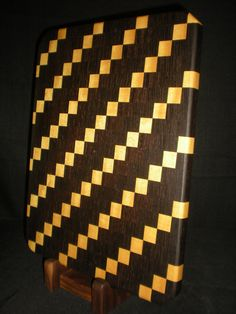 Yellowheart and Wenge End Grain Cutting Board. $200.00, via Etsy.