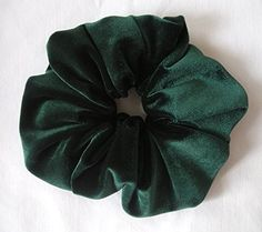 Hunter Green Velvet Hair ScrunchyLarge *** Check this awesome product by going to the link at the image.(This is an Amazon affiliate link and I receive a commission for the sales)
