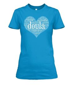 Doula Heart Cloud White. Premium quality tees, tanks and hoodies from BadBananas. Flat rate shipping worldwide.