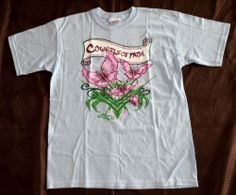 COWGIRLS OF FAITH LADIES COWGIRL WESTERN BUTTERFLY TEE T SHIRT S/S NWT M #EmbellishedTee our prices are WAY BELOW RETAIL! all JEWELRY SHIPS FREE! www.baharanchwesternwear.com baha ranch western wear ebay seller id soloedition
