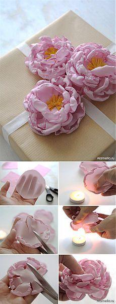 Цветы из органзы сделанные своими руками