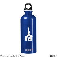 Yoga pose water bottle