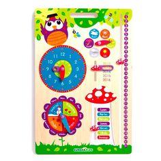 Seguimos preparando la vuelta al cole. Ahora el Calendario escolar, super didáctico para que aprendan los números, meses, horas, etc. Además es super chulo.  http://www.cktiendaonline.es/juguetes/calendarios-para-peques