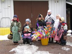 Easter witches in Sweden----who knew