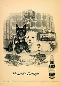 =-=1957  LOL at dogs in an ad for booze....