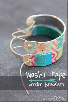 Washi tape wooden bracelets crafts diy crafts crafts for teens to make crafts for kids spring crafts crafts for adults crafts to sell easy crafts dollar store crafts easy crafts crafts for adults Kids Crafts, Crafts For Girls, Craft Stick Crafts, Diy For Kids, Easy Crafts, Diy And Crafts, Craft Ideas, Craft Sticks, Popsicle Stick Crafts For Kids