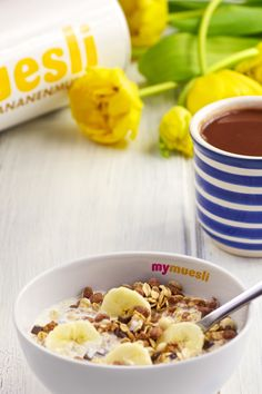 happiness = Schoko-Bananen Müsli #chocolate #banana #happiness #cereals #mymuesli