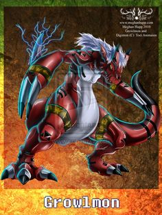Digimon: Growlmon by *Juctoo on deviantART