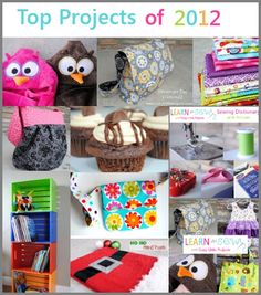 Top 10 DIY and Sewing Projects of 2012!!
