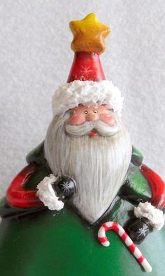 Hand-Painted, resin Santa figurine