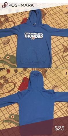 Oklahoma City Thunder Sweatshirt - Youth Large Oklahoma City Thunder Sweatshirt  - Size: Youth Large 14/16 - worn 5 times - mostly cotton - great condition Adidas Shirts & Tops Sweatshirts & Hoodies