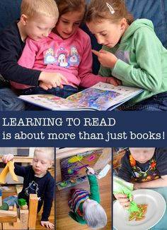 "This post is by regular contributor Kate Fairlie of Picklebums. At my big boy's preschool they have a poster on the door that says… ""Learning to read is about more than just books!"" Underneath the words are lots of photos of kids doing different activities. I love that poster. It makes me smile every time I see it because it reminds me that my 'just turned five' boy who is so desperate to be able to read like his big sisters, is learning the skills he needs to do just that, every day, in so…"