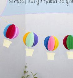 ❤ Vidám papír léggömb füzér - egyszerű gyerekszoba dekoráció ❤Mindy - kreatív ötletek és dekorációk minden napra