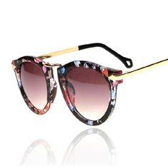 Flower Cat Eye Womens Sunglasses Women Luxury Brand Designer Retro Vintage Sun Glasses For Womaen Female Cateye Arrow Shades