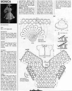 Vestido de Boneca em Crochê - / Crochet Doll Dress - 10