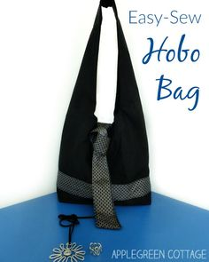 A comfortable DIY hobo bag to make. It's an easy-sew shoulder bag for beginners…