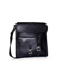ASOS Fashion Finder | Reporter black leather messenger bag