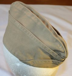 Vintage US Army Garrison Hat Cotton 1940's by ilovevintagestuff