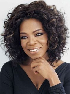 Black Synthetic Short Curly Oprah Full Wig