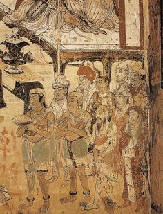Painting from the Tang Dynasty showing a number of foreign delegates, including Central Asians and Indians. Chinese Painting, Chinese Art, Dynasty Show, Central Asia, Vintage World Maps, Bible, Asian, Number, Biblia
