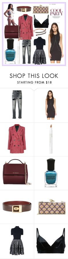 """""""cool party"""" by kristen-stewart-2989 ❤ liked on Polyvore featuring Golden Goose, Rebecca Minkoff, Isabel Marant, Jouer, Givenchy, Deborah Lippmann, Lanvin, Balenciaga, Manning Cartell and Kismet by Milka"""