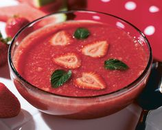 """Strawberry watermelon soup""   This soup makes a refreshing first course for a summertime meal."