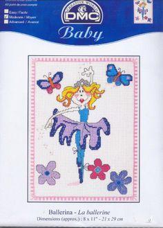 Schematic cross stitch Ballerina Blue 1