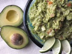Easy guacamole....yummy!