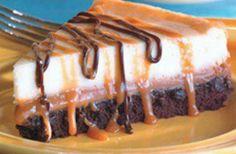 brownie caramel cheesecake recipe