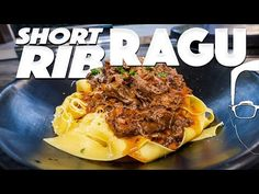 BEEF RAGU PASTA RECIPE (BETTER THAN BOLOGNESE?)   SAM THE COOKING GUY - YouTube Crock Pot Slow Cooker, Slow Cooker Recipes, Beef Recipes, Eclair Cake Recipes, New Cooking, Cooking Ideas, Beef Short Ribs, Man Food, Pasta Dishes