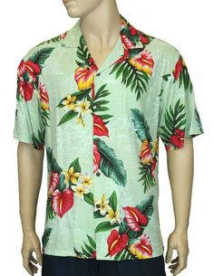 94865c2c41 Rayon Aloha Shirt - Anthurium Galore