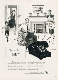 c1954-Vintage Friday: Advertising for  Bell Telephone System « an Ad a Day