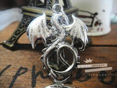 Dragon with wings pendant great for diy phone bling Craft Supplies, Legends, Wings, Silver Rings, Dragon, Jewels, Medium, Pendant, Phone