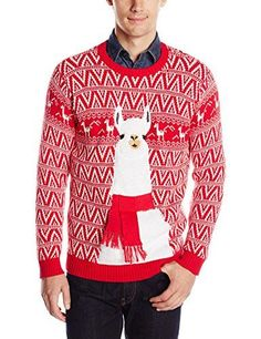 Ugly llama Christmas sweater for men - hilarious guy gift Novelty holiday sweater Great with denim Matching Christmas Sweaters, Mens Ugly Christmas Sweater, Ugly Sweater Party, Holiday Sweaters, Alpacas, Black Christmas, Classy Christmas, Christmas 2015, Merry Christmas