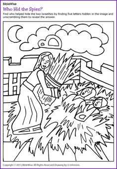 Who Hid the Spies (Hidden Letters Rahab) - Kids Korner - BibleWise
