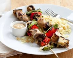 Honey Mustard Chicken and Vegetable Kabobs Recipe #chicken #kabobs #bbq