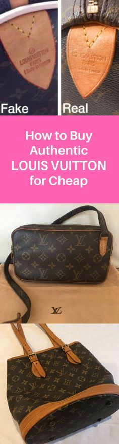 22c292220142 Buy Authentic Louis Vuitton at Up to 80%! Authenticity Guaranteed. Click  image to · Vuitton BagLouis ...